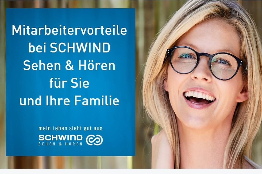 Poster about employee benefits at Schwind sehen & hören in german